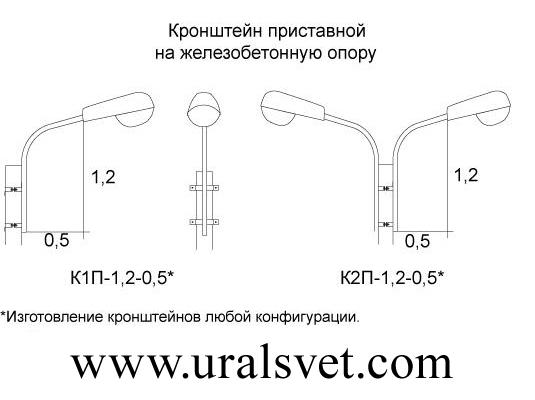 Производство кронштейнов приставных серии К2П-0,5-0,5; К2П- 1,0-1,0; К2П-1,5-1,5; К2П-2,0-2,0