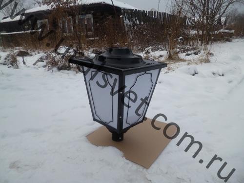 Светильник парковый Пушкинский ЖТУ 04-100-414 отгружен в город Москва